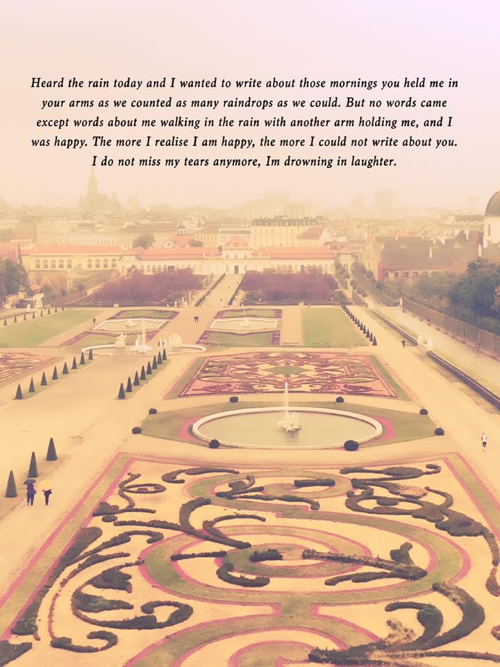 Ansicht Belvedere mit Gedicht