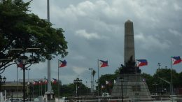 Flag of the Philippines at Rizal Monument - Manila